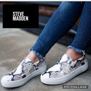 STEVE MADDEN gills platform shoes 6.5 snake